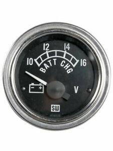 Stewart Warner Gauge Voltmeter 10 16v 2 1 16 Analog Electrical Black 82391