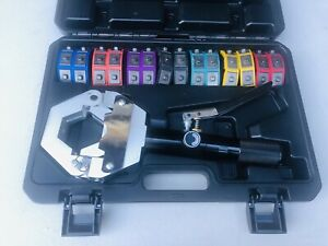 Hydraulic Hose Crimper Tool Kit 7 Dies Portable With Handheld Crimping Read