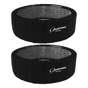 Outerwears 14 X 4 Black Tall Air Cleaner Pre Filter 2 Pack