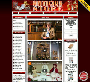 Antique Store Business Website For Sale