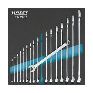 Hazet 163 98 17 12 point Traction Profile Combination Wrench Set Multi colour