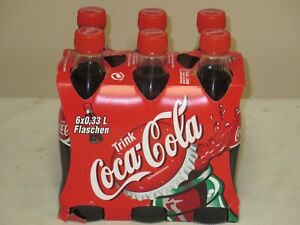 1999 COCA COLA GERMANY 6 PACK NEVER OPENED 0.33L BOTTLES + CARDBOARD CARRIER