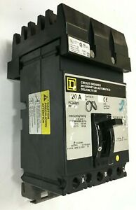 Square D Fc34020 20amp 480vac Circuit Breaker 3 phase I line Style Plug in