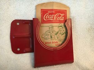1940's Coca Cola Drip Protector Dispenser Cavalier Cooler Vending Machine COKE~~