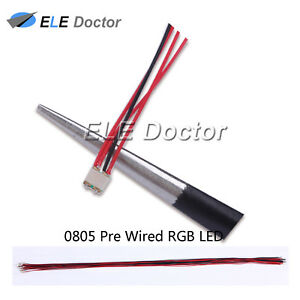 100pcs 1206 3216 Rgb Light Smd Pre wired Led Diodes Soldered 20cm Length Lamp
