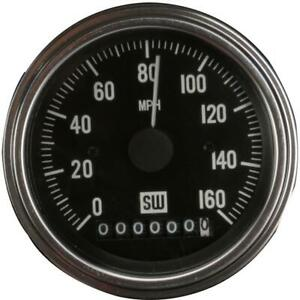 Stewart Warner 82961 Deluxe Electric Speedometer 0 160 Mph