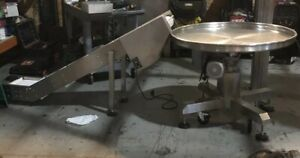 Stainless Steel Pack Off Table With Incline Conveyor