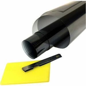 Uncut Window Tint 20 Black Film 20 Inches X 20 Feet Car Home Office