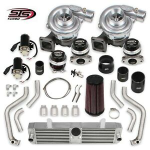 Sts Turbo Sts2008 Rear Mount Twin Turbo System Kit Fits 2001 2004 Corvette C5