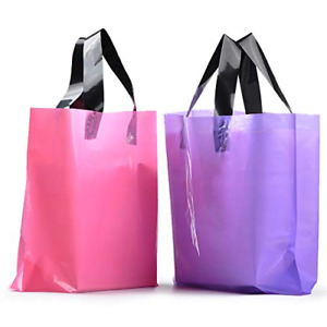 100pc Frosted Plastic Gift Bags Large Merchandise Bags Retail Clothing W Handle