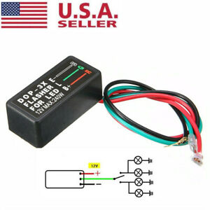 Motorcycle Universal Blinker Relay 3 Pin Dc12v Led Turn Signal Light Flasher Us