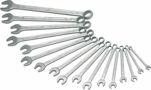 Hazet 600n 17n 12 point Traction Profile Combination Wrench Set Chrome plated