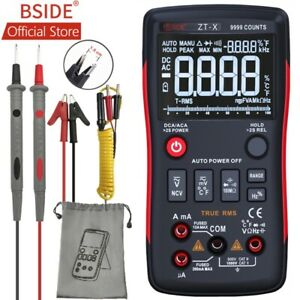 Bside Zt x True Rms Digital Multimeter 3 line Triple Display 9999 Counts Tester