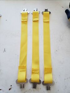 Bullard Hard Hat Suspension One Set Of 3 Yellow Straps And Clips