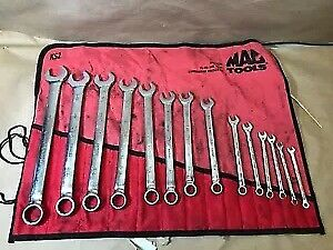 Mac Tools 15 Pc Sae Knuckle Saver Comb Wrench Set 12 Pt Scb15k2ks Read