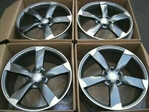 19x8 5 Wheels Fit Audi A8 A6 A4 A5 Q5 Vw Cc Tiguan 5x112 35 Rims 19 Inch Set 4