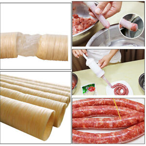 New Natural Sausage Skin Collagen Casing Handmade Roast Us