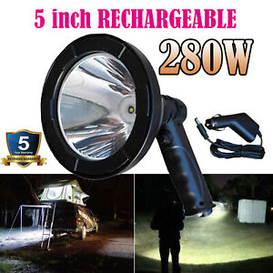 280w Led Cree 12v Rechargeable Spotlight Hunting Handheld Spot Light Camp Lamp