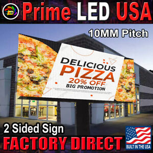 Double Sided Led Sign Full Color P10mm Outdoor indoor 25 25 H X 50 5 W Wifi