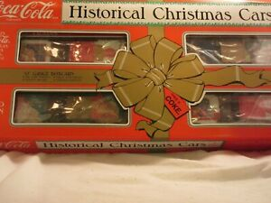 K-Line Coca Cola O Gauge Historical Christmas Box Car 4-Pack