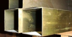 Brass Square Tubing 1 1 2 X 1 1 2 Sold By The Foot
