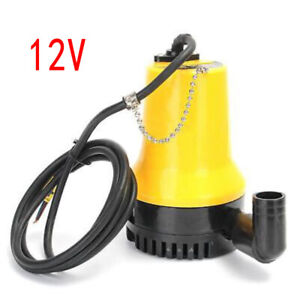 12v Submersible Water Pump 4500l h Clean Clear Dirty Pool Pond Flood Garden