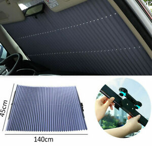 140 45cm Retractable Car Windshield Sun Shade Visor Cover Curtain Uv Protection