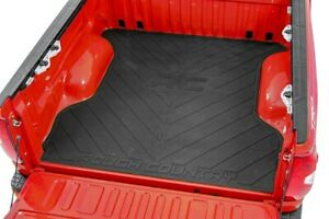 Rough Country Rubber Bed Mat Fits 19 21 Chevy Silverado Gmc Sierra 6 5 Ft Bed
