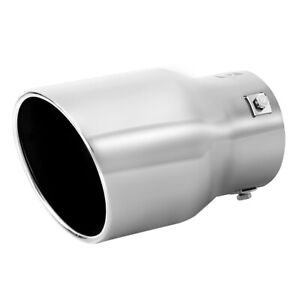 Car Muffler Tip Exhaust Pipe Stainless Steel Chrome Effect Fit 2 5 3 Inch