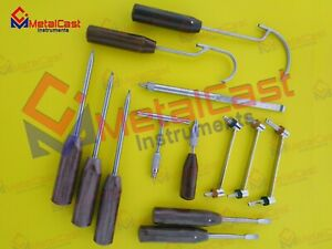Basic Orthopedic Instruments Set Of 13 Pcs Screw Driver Drill Guides Wire Parser