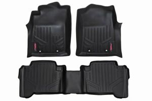 Rough Country Durable Floor Mats fits 2012 2015 Toyota Tacoma Double Cab Set