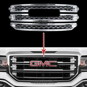 2016 2018 Gmc Sierra 1500 Slt Chrome Snap On Grille Overlay Grill Covers Inserts