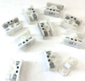 Cabinet Storage Plastic Latch Assembly lot Of 9