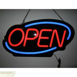 Open Flashing Led Sign 23 Wall Window Indoor Business Bars Store Warranty New