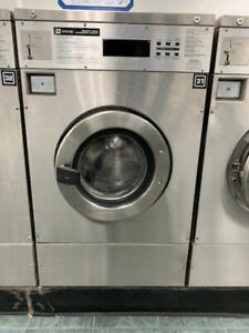 Maytag Front Load Washer 25lb Coin Op Stainless Steel S n 21000635eg used