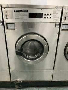 Maytag Front Load Washer 25lb Coin Op Stainless Steel S n 21000610eg used