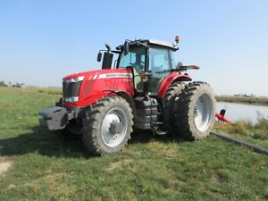 1 Owner 2018 Massey Ferguson 7724 Dyna 6 W 920 Hrs Rear Duals And Front Fenders