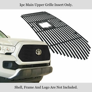 Fits 2018 2020 Toyota Tacoma W Front Fensor Tss Stainless Black Billet Grille