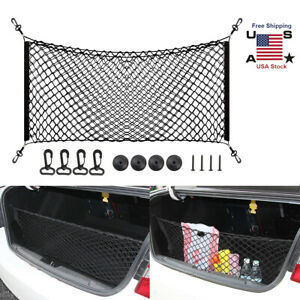 Universal Car Accessories Envelope Style Trunk Cargo Net New