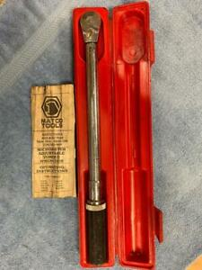 Matco Tools Torque Wrench Trb100 3 8 Drive 10 100 Ft Lbs