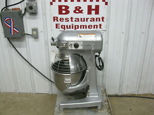 Hobart A 200 Dough Mixer 20 Qt W Stainless Steel Bowl Guard Wire Whip Whisk