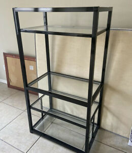 Retail Display Metal Frame Rack Glass Shelving Organizer 5ft Pick Up Only
