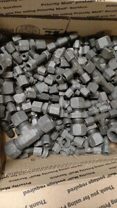 24 Pounds Eaton Weatherhead Carbon Steel Compression Fittings Mixed Bulk Lot