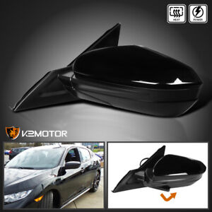 Driver Left For 2016 2018 Honda Civic Power heated 5 pin Folding Side Mirror
