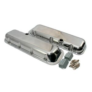Big Block Chevy Short Polished Aluminum Valve Covers With Breather Holes 396 454