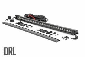Rough Country 30 Black Series Single Row Cree Led Light Bar W Drl