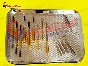 Plastic Surgery Face Lift Endoscopic Browlift Nasal Rasps 15 Pcs Instrument Set