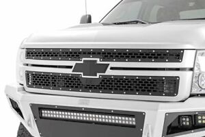 Rough Country Custom Mesh Grille fits 2011 2014 Chevy Silverado 2500 3500 Hd