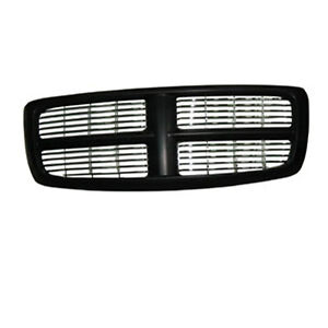 Front Grille Black Fits Dodge Ram 1500 2500 3500 2002 2005 Ch1200259