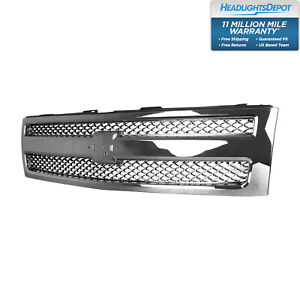 Front Grille Chrome For Chevrolet Silverado 1500 2012 2013 Gm1200655